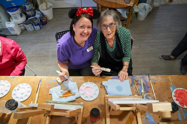 The home is inviting the community to get arty (Photo - Simon Jacobs)
