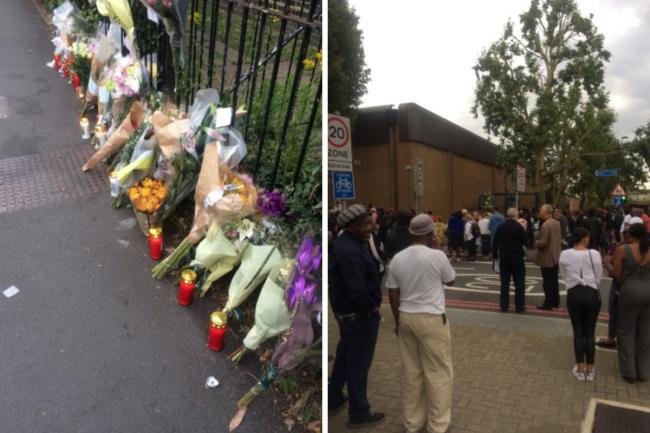 Pictures taken at the vigil by Councillor Maurice Mcleod