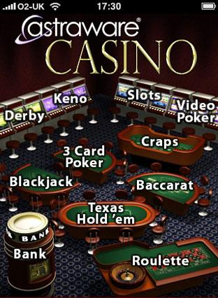 Game review: Astraware Casino - iPhone / iPod Touch
