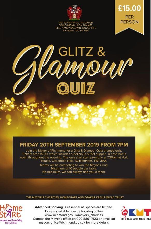 The Autumn Quiz will raise money for local charities.