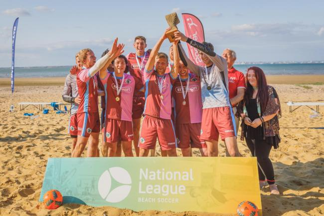Casuals won the English National Beach Soccer League title