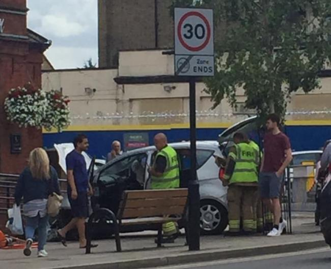 The crash in New Malden High Street. Picture: Tracy Elsie Broadfield