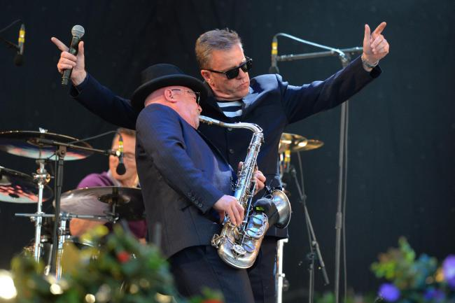 Lee Thompson and Suggs of Madness. Picture: Matt Crossick/PA Wire