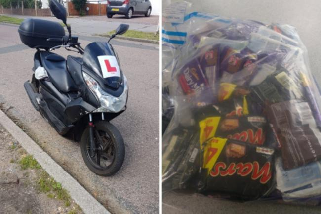 The bike and chocolate seized