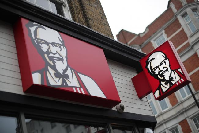 A KFC store front