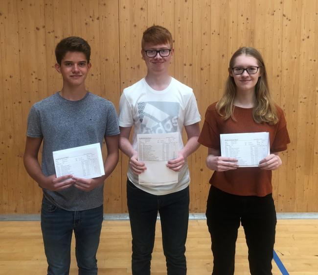 Harry Henrick, Harry Horrigan and Melissa Biggs from Oasis Academy Coulsdon
