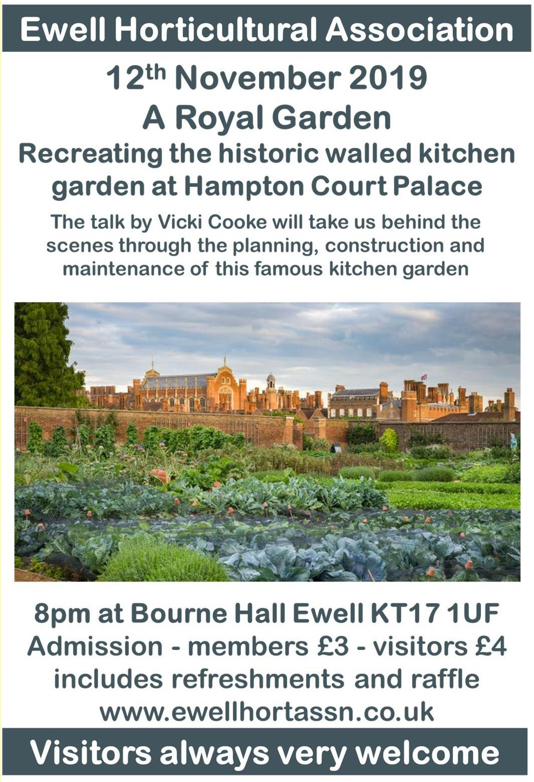 A talk by Vicki Cooke entitled 'A Royal Garden'