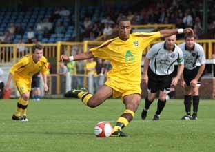 On target: Stefan Payne scores another for Sutton