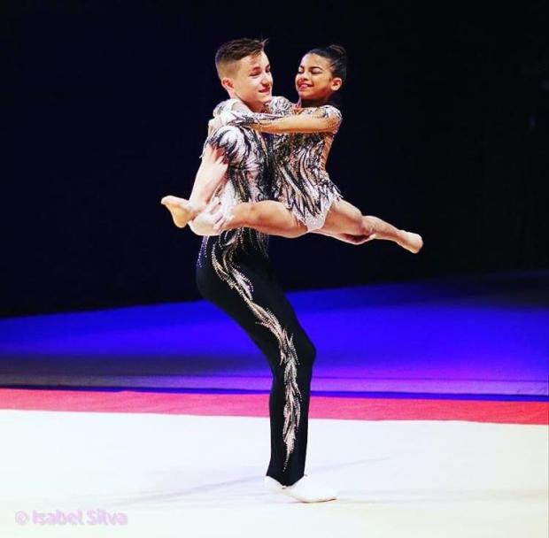 Your Local Guardian: 14-year-old Henry Godfrey and his partner 11-year-old Keira Follett both compete in acrobatic gymnastics which is a non-funded sport.