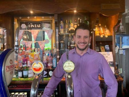 David Cunningham as an adult and General Manager at The Ship in Mortlake.