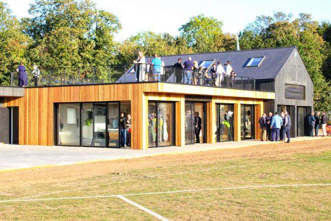 The pavilion was unveiled towards the end of last month