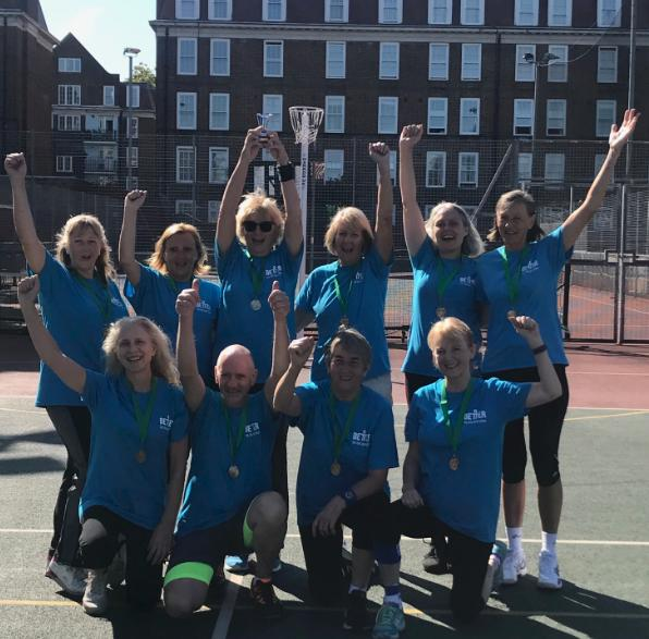Epsom and Ewell walking netballers triumph in London
