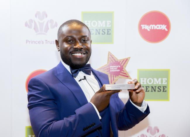 Gideon Buabeng with his Young Ambassador of the Year Award. Picture: Ian Jones Photography