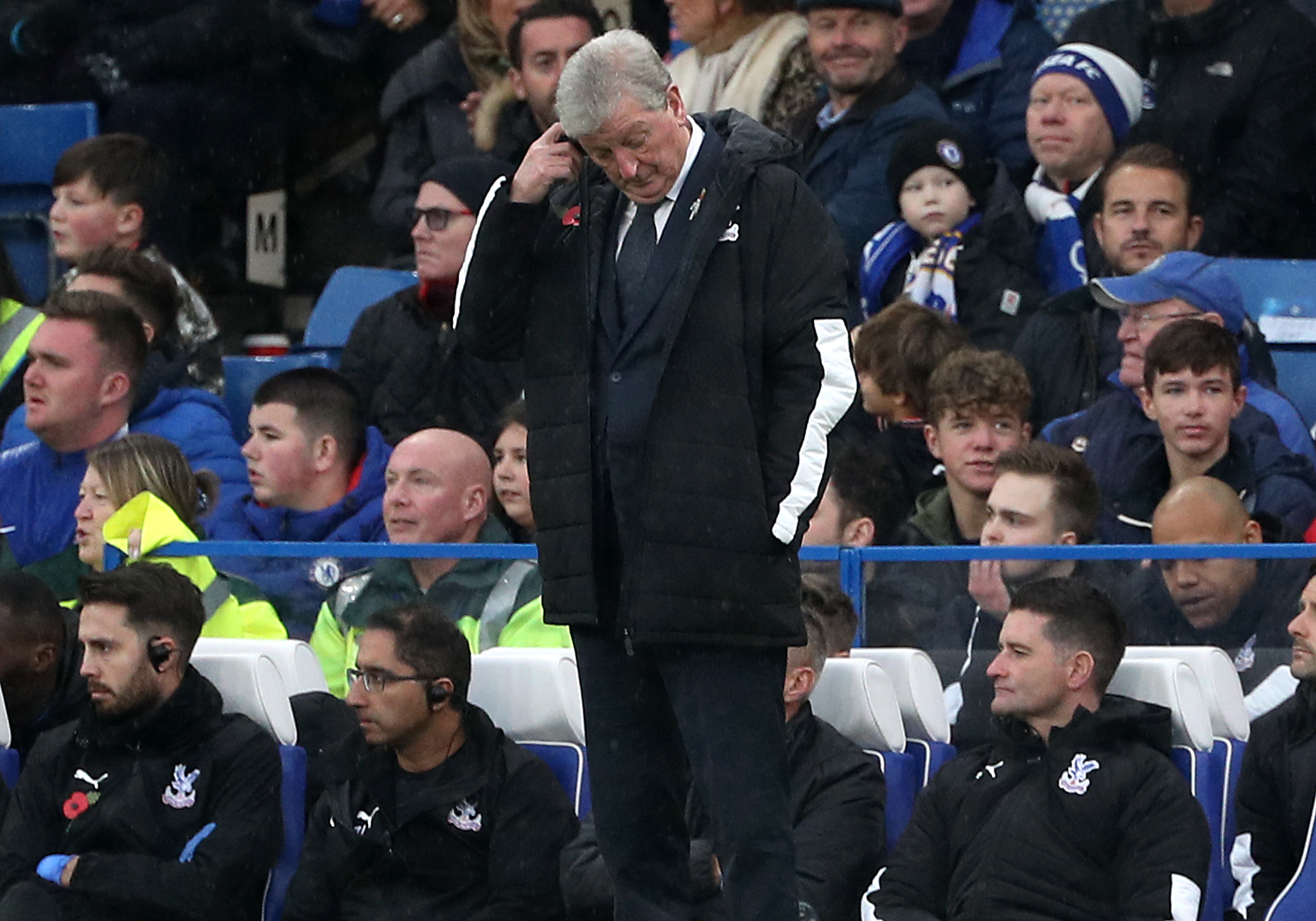 Hodgson won't knock his Crystal Palace side after 2-0 Chelsea defeat