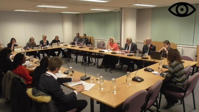 Merton Cabinet met on Monday, November 11. Credit: Merton TV. Free for use by all BBC wire partners.