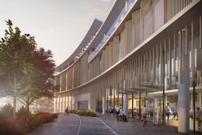 A CGI of the approved Oak Cancer centre. Picture: Royal Marsden