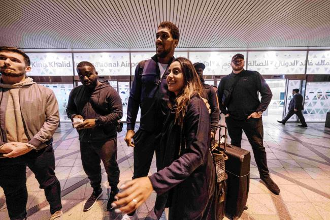 Anthony Joshua is in Saudi Arabia for his world heavyweight title rematch