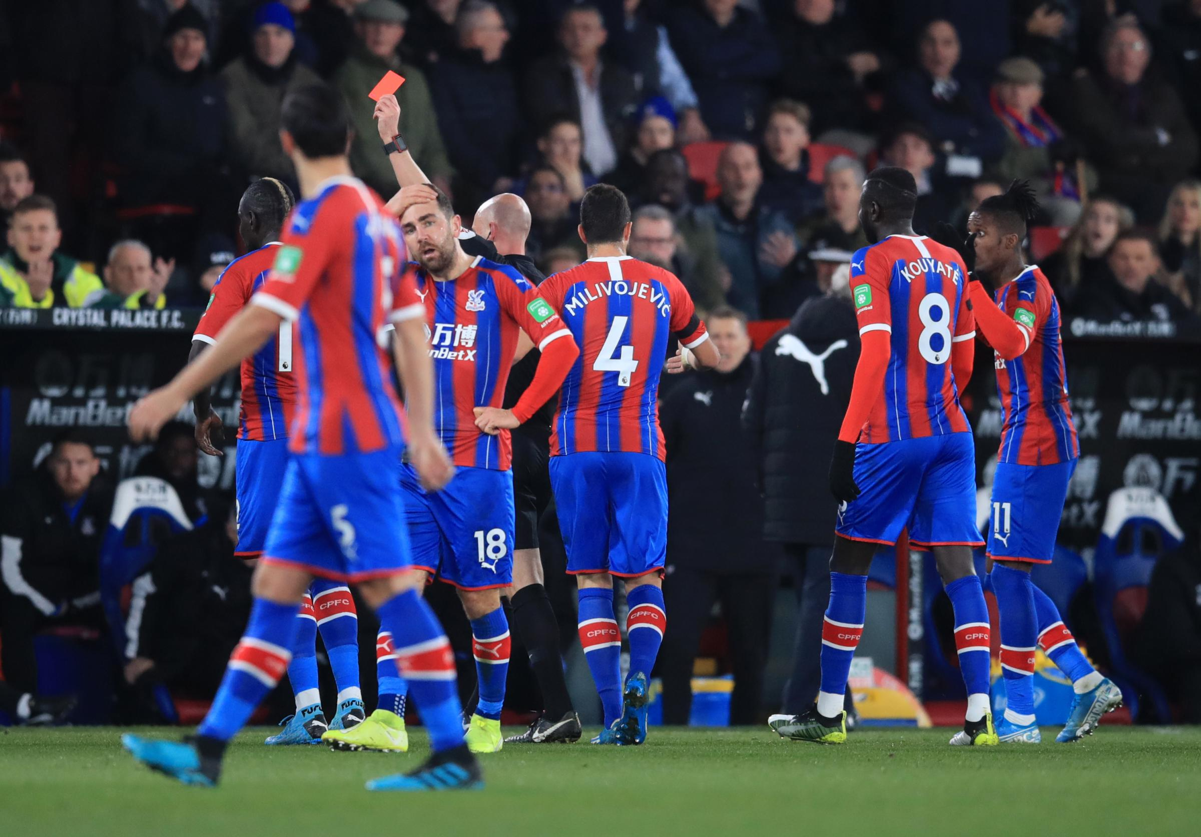 Fans split over Sakho's red card in Crystal Palace's 1-0 win over Bournemouth