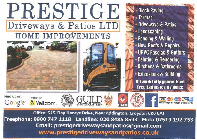 The offending flyer that was distributed by Prestige Driveways and Patios Ltd. The company has since ceased trading.