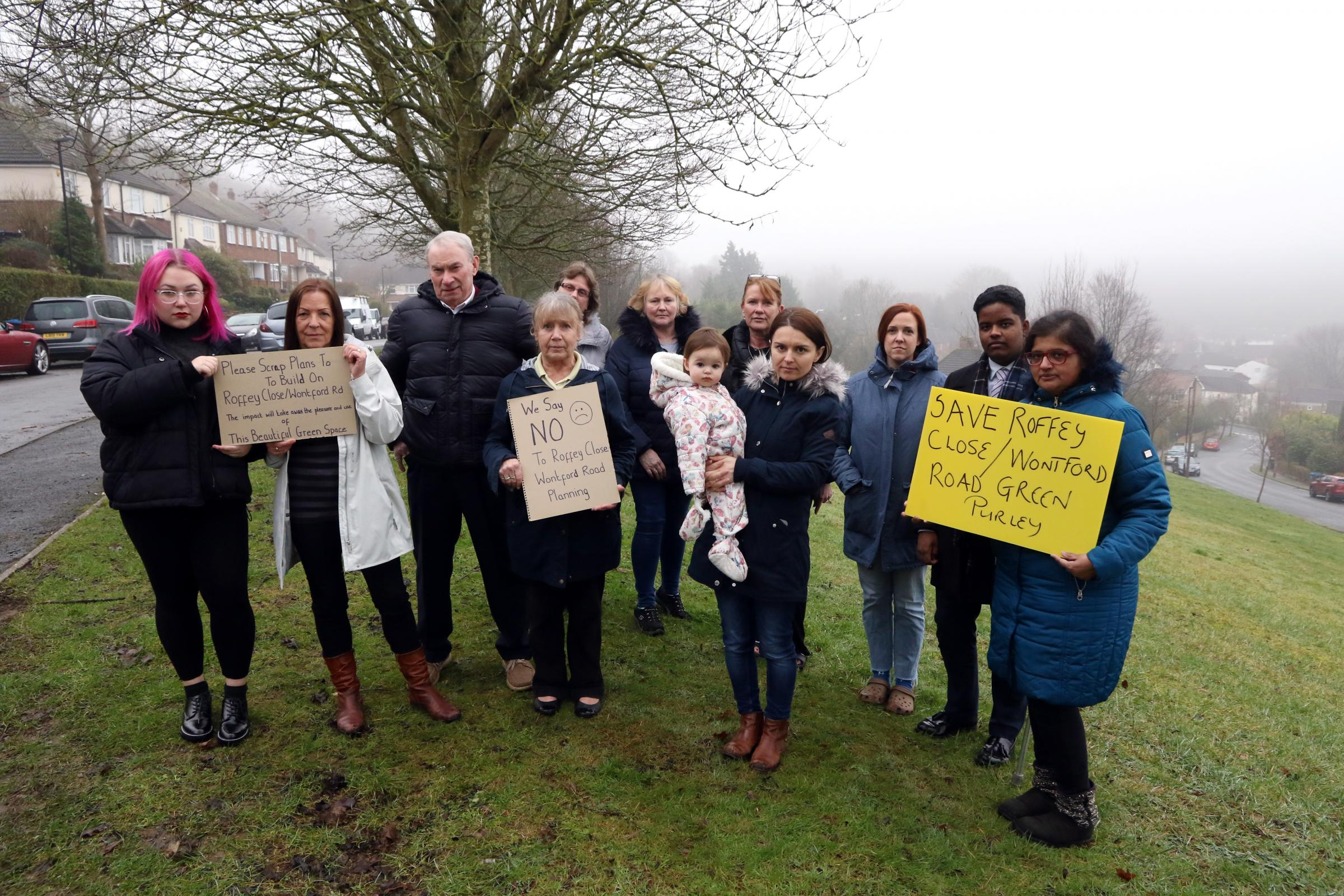 Purley neighbours furious at plans to build new homes on 'lovely green space'