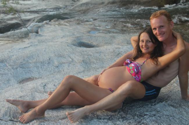 Yulia and Paul Tarbath in Australia, while pregnant with Elanie. March 2014.