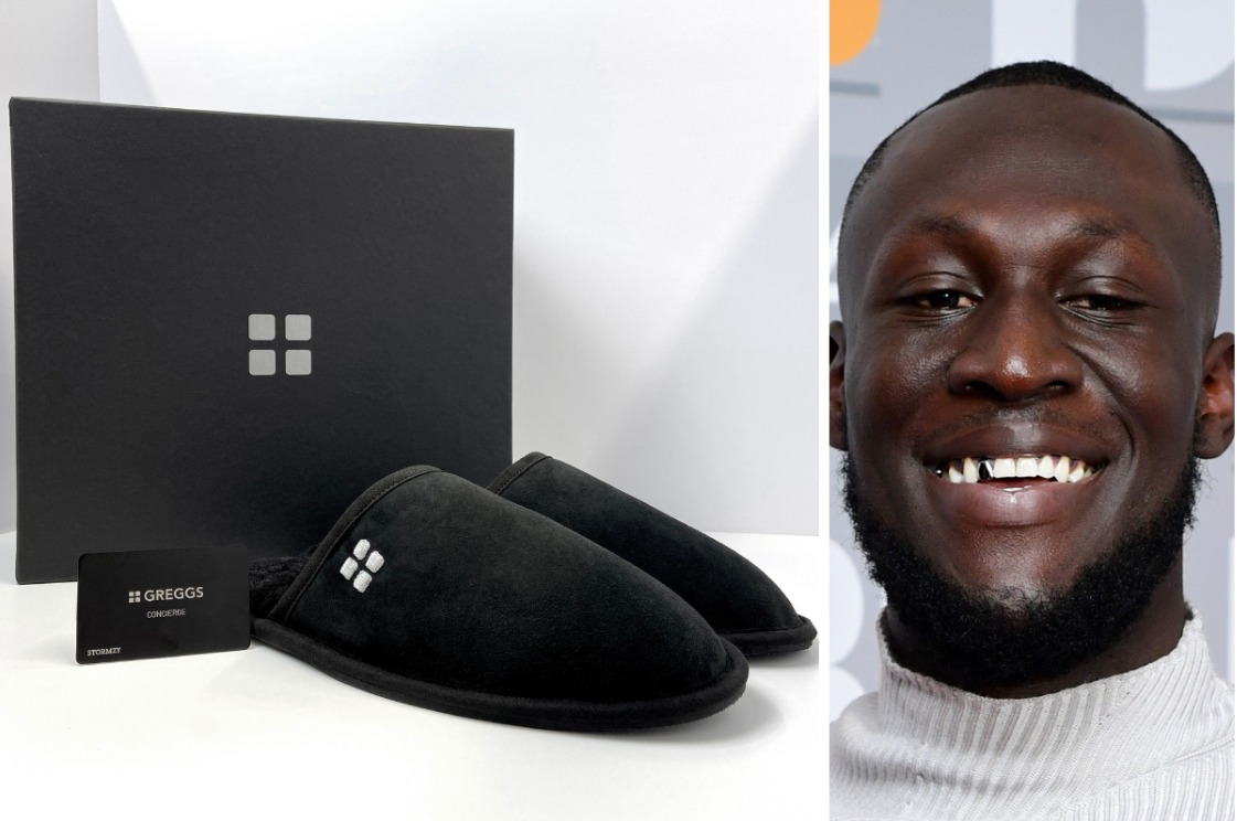 Stormzy receives first Greggs 'black card' handing him free baked good for life