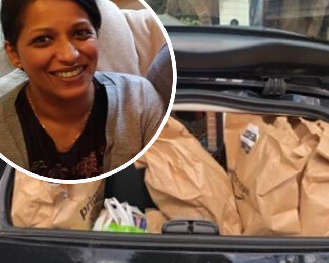 Nisha has been doing food drop offs to St Helier