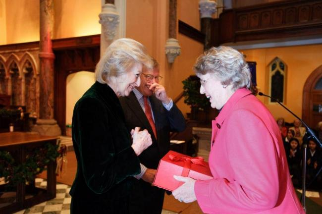 Princess Alexandra recognises Jane Orford's contribution to the charity