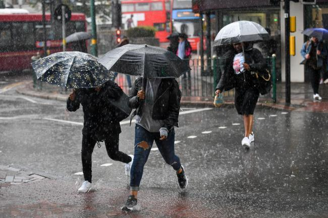 A Met Office weather warning is in place across London.