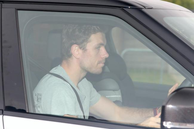 Liverpool captain Jordan Henderson, pictured leaving the club's Melwood training ground, says he feels 'very safe' following the return to non-contact training.