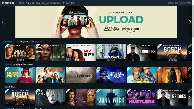 Your Local Guardian: The Amazon Prime Video home page offers access to movies and TV shows sorted into categories. Credit: Amazon