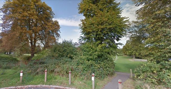 View of Ashtead Recreation Ground, where a figyt involving dozens of young men occured Wednesday.