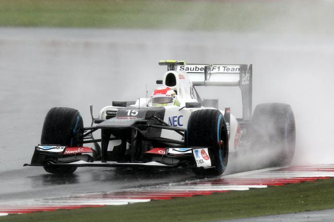 Rain has disrupted the second grand prix of the season