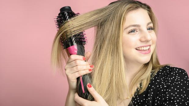 Your Local Guardian: This Revlon hair dryer brush is better than any hair dryer I've ever used. Credit: Reviewed / Betsey Goldwasser