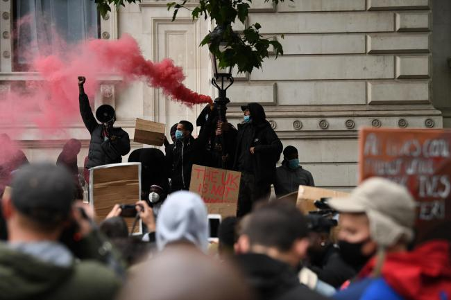 Black Lives Matter protest in central London against police violence and systemic racism. Image: Stefan Rousseau/PA Wire