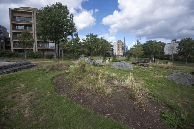 Nursery Row Park, Walworth, south east London, where a 24-year-old man was attacked by a group of up to six men on Friday evening, leaving him critically ill in hospital. Victoria Jones/PA Wire