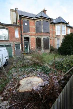 A family was moved out of this home for works to be completed, but it has since been squatted