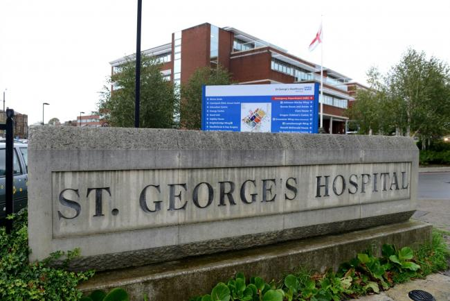 St George's Hospital in Tooting, which could see a rise in Covid-19 patients if the borough becomes a hotspot.