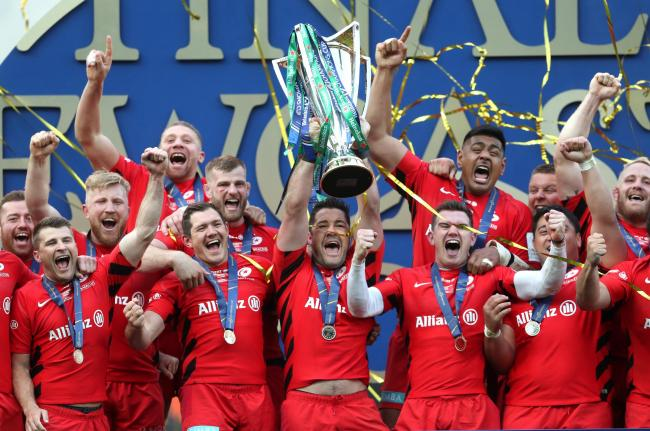 Saracens celebrated winning the Champions Cup in 2019