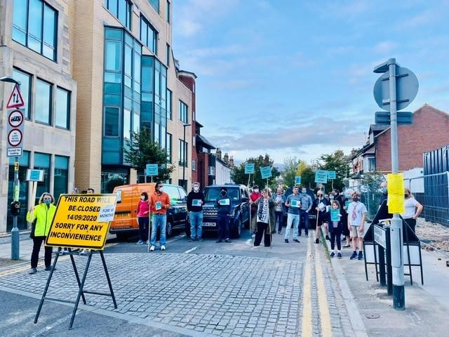 Residents of Graham Road protest over hotel road closure