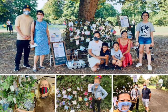 Volunteers have been hosting mask trees across SW London