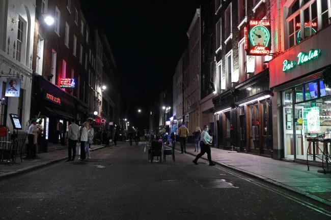 Closing time in Soho