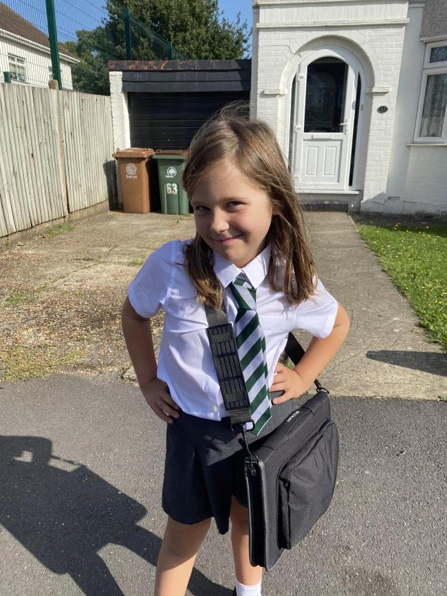 Alice had to have more than a week off school following delays to her covid test which came back negative. Credit: Jessica Harris. Free for use by all BBC wire partners.