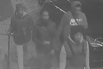 CCTV images of four men police want to speak to in connection with the incident.