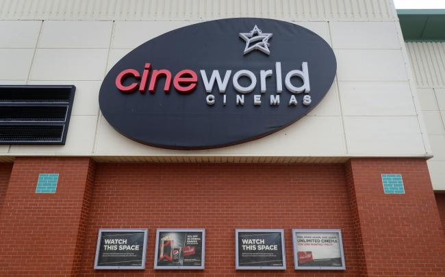 Cineworld in Ashford, Kent, the cinema chain has said up to 45,000 employees will be affected worldwide as it confirmed plans to temporarily close its theatres in the UK and the US. Gareth Fuller/PA Wire