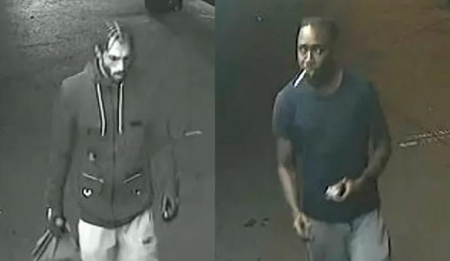 Two men sought by police after the assault in Croydon. Image: Met Police
