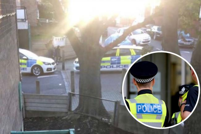Police were pictured conducting search in Tooting ahead of the arrest