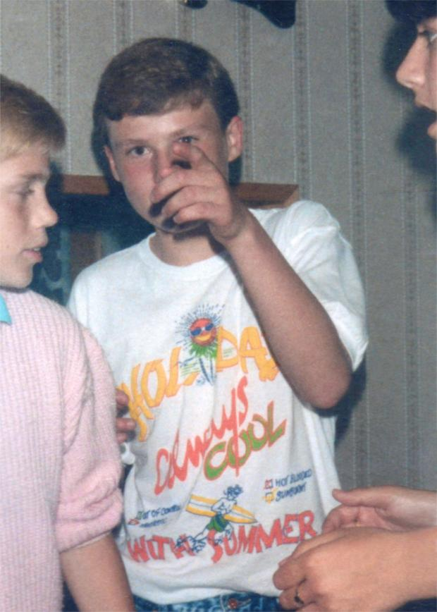 Your Local Guardian: Lee at a party in 1987