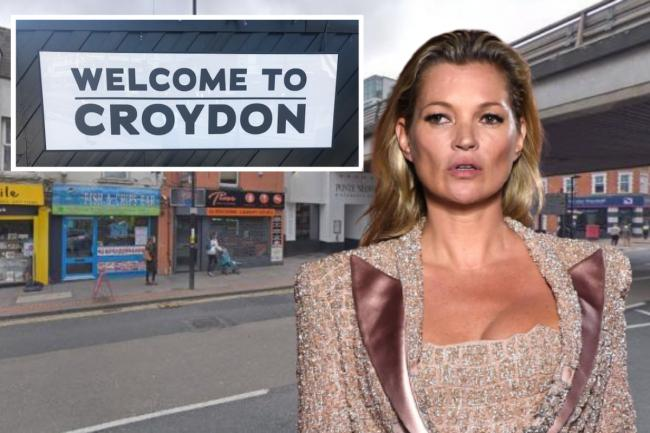 Model Kate Moss has said she does not miss her hometown of Croydon in south London. Pictures: PA/Google Street View