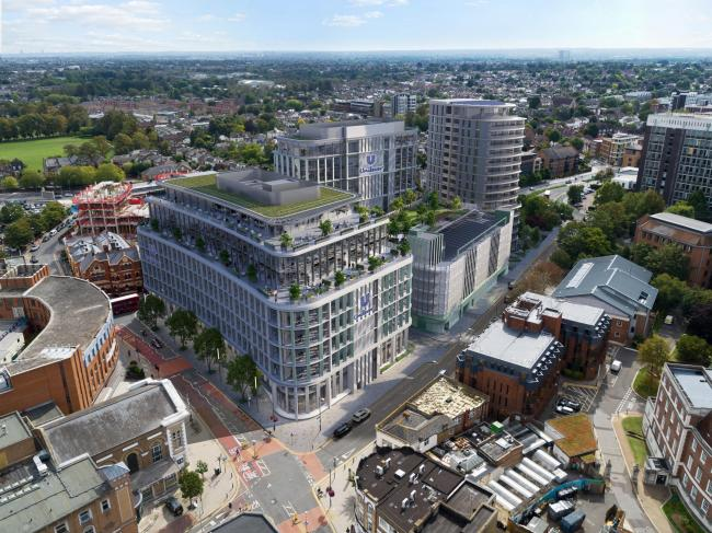 An artist's impression of the new headquarters for Unilever in Kingston town centre